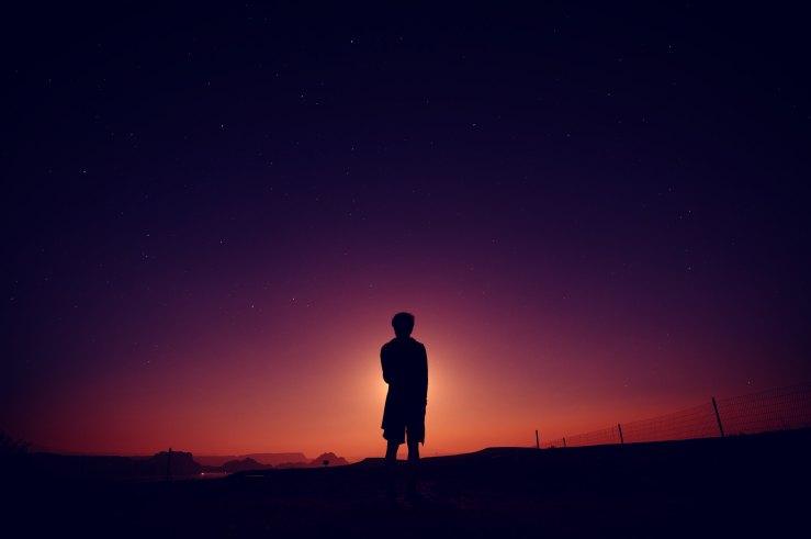 boy in dusk