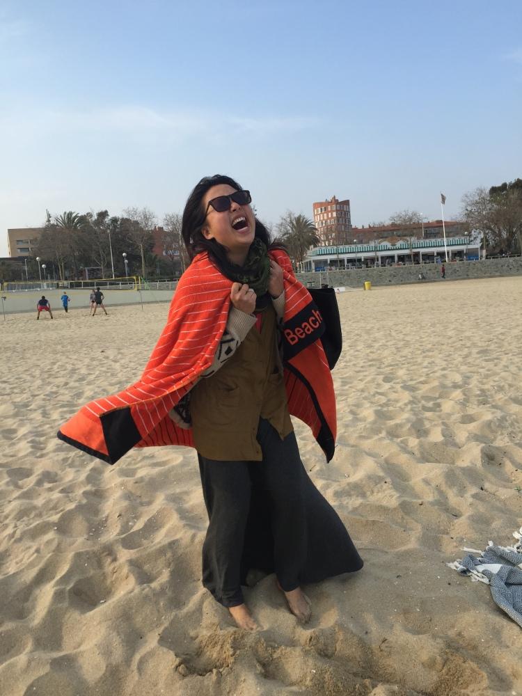 acting a fool on the beach
