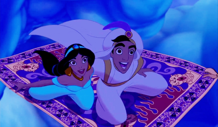aladdin and jasmine on carpet