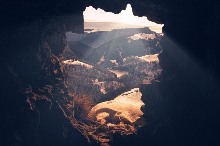 through tunnel